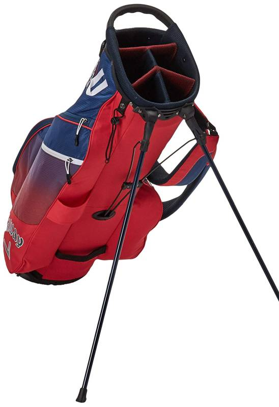 Callaway Golf 2018 Chev Stand Bag. The stand golf bags are equipped with retractable legs that enable the bag to stand at a specific angle