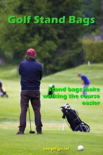 Stand bags make walking the course easier