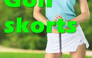 Golf skorts for women. black, long, white.
