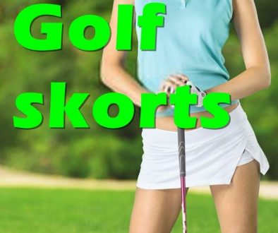 Golf skorts for women. black, long, white.
