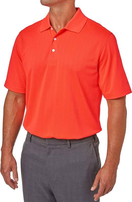 Walter Hagen Men's Essentials Textured Golf Polo