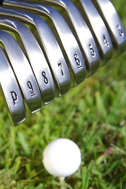 The numbers seen in golf clubs stand for the loft, in most cases. The overall rule is that the lower the number, the lower the loft.