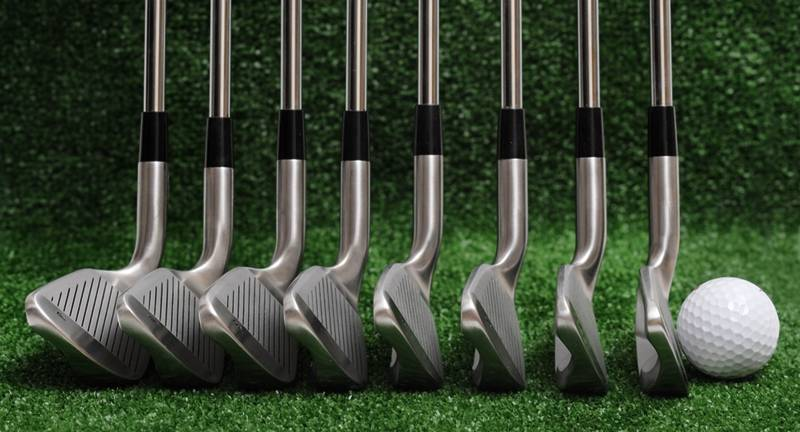 Irons Golf Clubs. Irons are preferred when the shot is under 200 yards away from the green. #golf